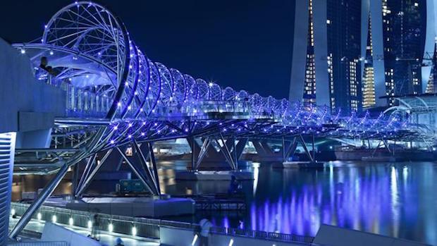 The Helix Bridge - Singapour - 1