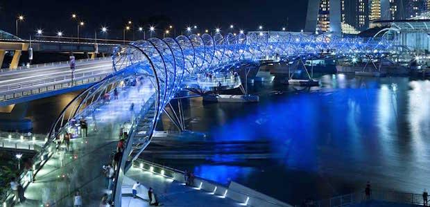 The Helix Bridge - Singapour - 10
