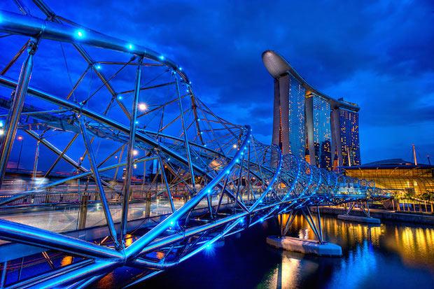The Helix Bridge - Singapour - 11