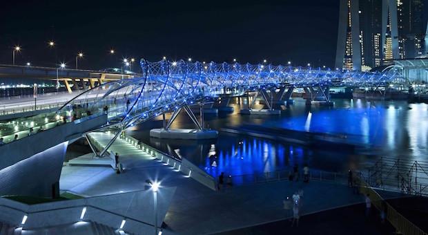 The Helix Bridge - Singapour - 2