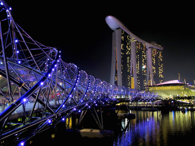 The Helix Bridge - Singapour - 3