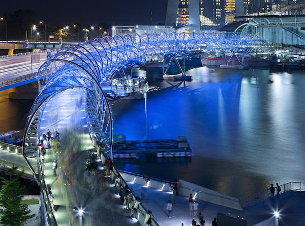 The Helix Bridge - Singapour - 4