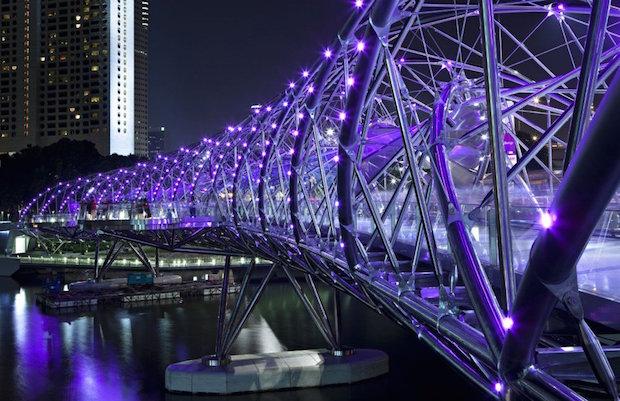 The Helix Bridge - Singapour - 5