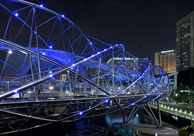 The Helix Bridge - Singapour - 7