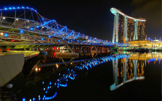 The Helix Bridge - Singapour - 9