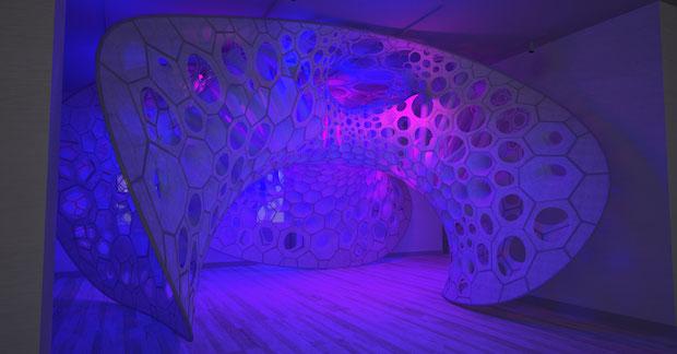 Polythread Knitted Textile Pavilion - Jenny Sabin - New York - 1