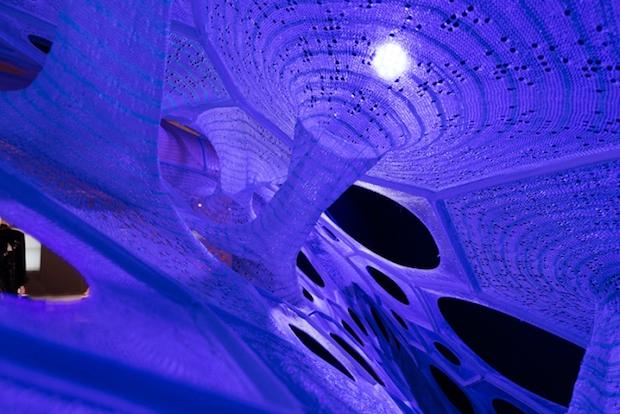 Polythread Knitted Textile Pavilion - Jenny Sabin - New York - 11
