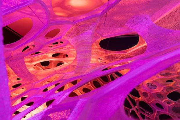 Polythread Knitted Textile Pavilion - Jenny Sabin - New York - 9
