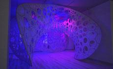 Polythread Knitted Textile Pavilion – Jenny Sabin – New York